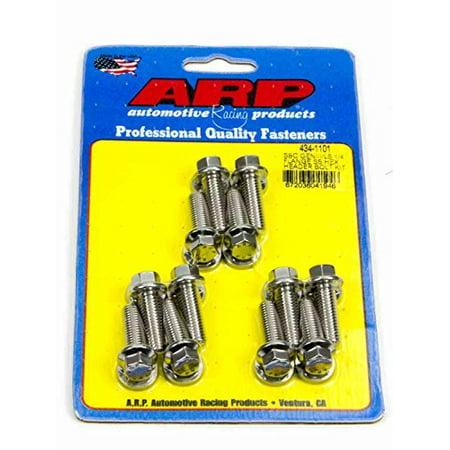 434-1101 Stainless Steel Header Bolt Kit, Description: SBC/GENIII LS 1/4 flange SS hex header bolt kit Pkg: kit Pkg Type: skin Material_1: Stainless Steel Finish_1:.., By ARP