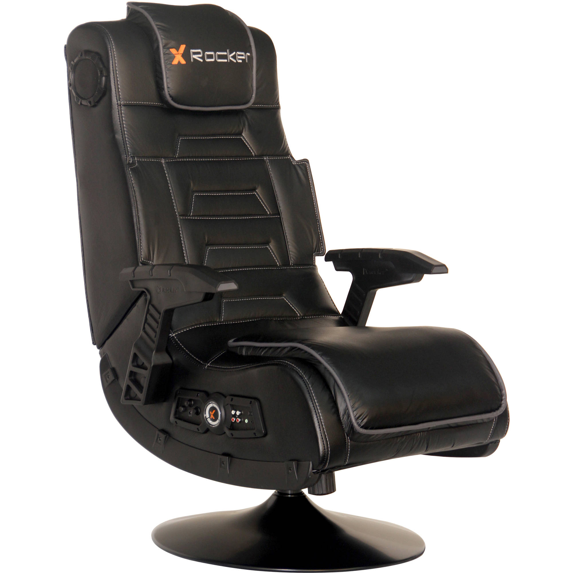X Video Rocker Pro Series Pedestal 2.1 Wireless Audio Gaming Chair, Black, 51396