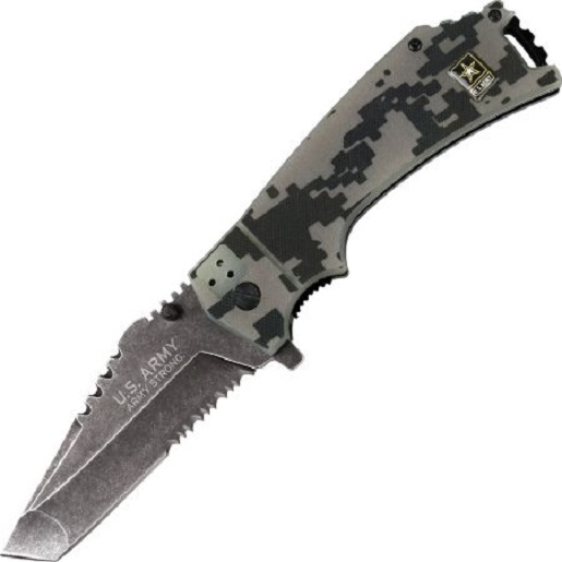 U.S. ARMY A-A1021CS Closed Spring Assisted Folder Knife, 4.75-Inch Multi-Colored