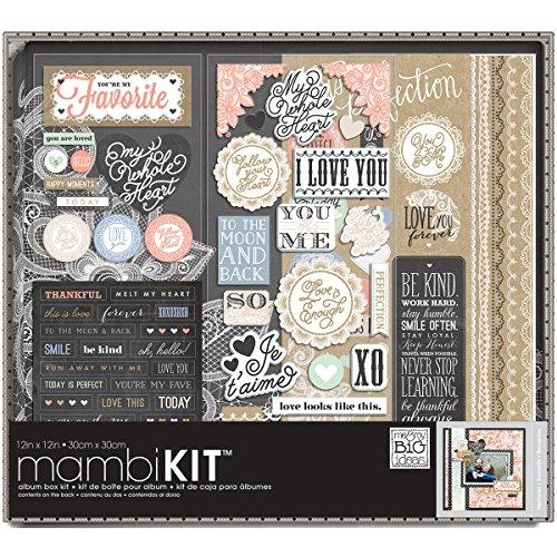 me & my BIG ideas BOX-79 Lacey Charm Album Box Kit, 12 by 12-Inch Multi-Colored