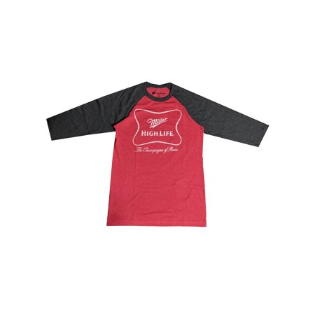 Miller Rams - Men's Miller Coors Highlife Distressed Raglan Shirt (XL) W55