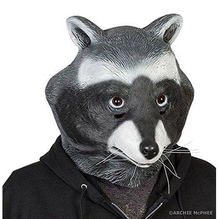 Adult Full Head Latex Raccoon Animal Mask - Walmart com
