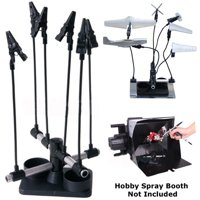 Airbrush & Spray Gun PARTS HOLDER CLIP STAND Holds Model Hobby Auto Paint Booth