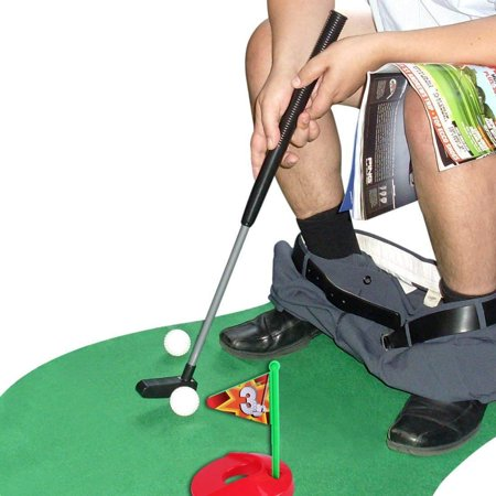 Toilet Golf, SYZ Mat Potty Putter Toilet Time Golf Sport Game Bathroom Mini Golf Training for Men's Toy Funny Time by Perfect Life Ideas - 1 Set - Halloween Mini Golf Games