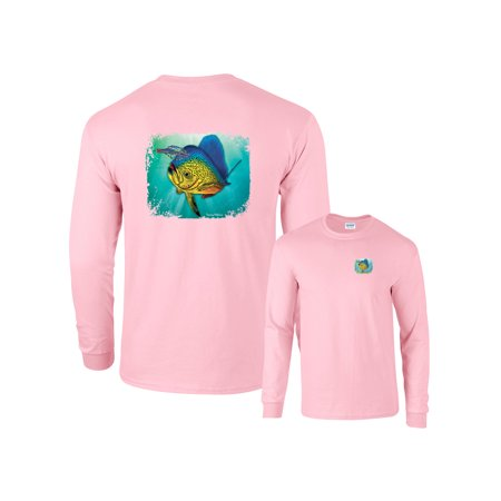 Bull Dolphin Chasing Bait Long Sleeve - Chasing Dolphins