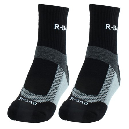 Pearl Izumi Cycling Socks - R-BAO Authorized Adult Mountain Bike Workout Training Cycling Socks Black Pair