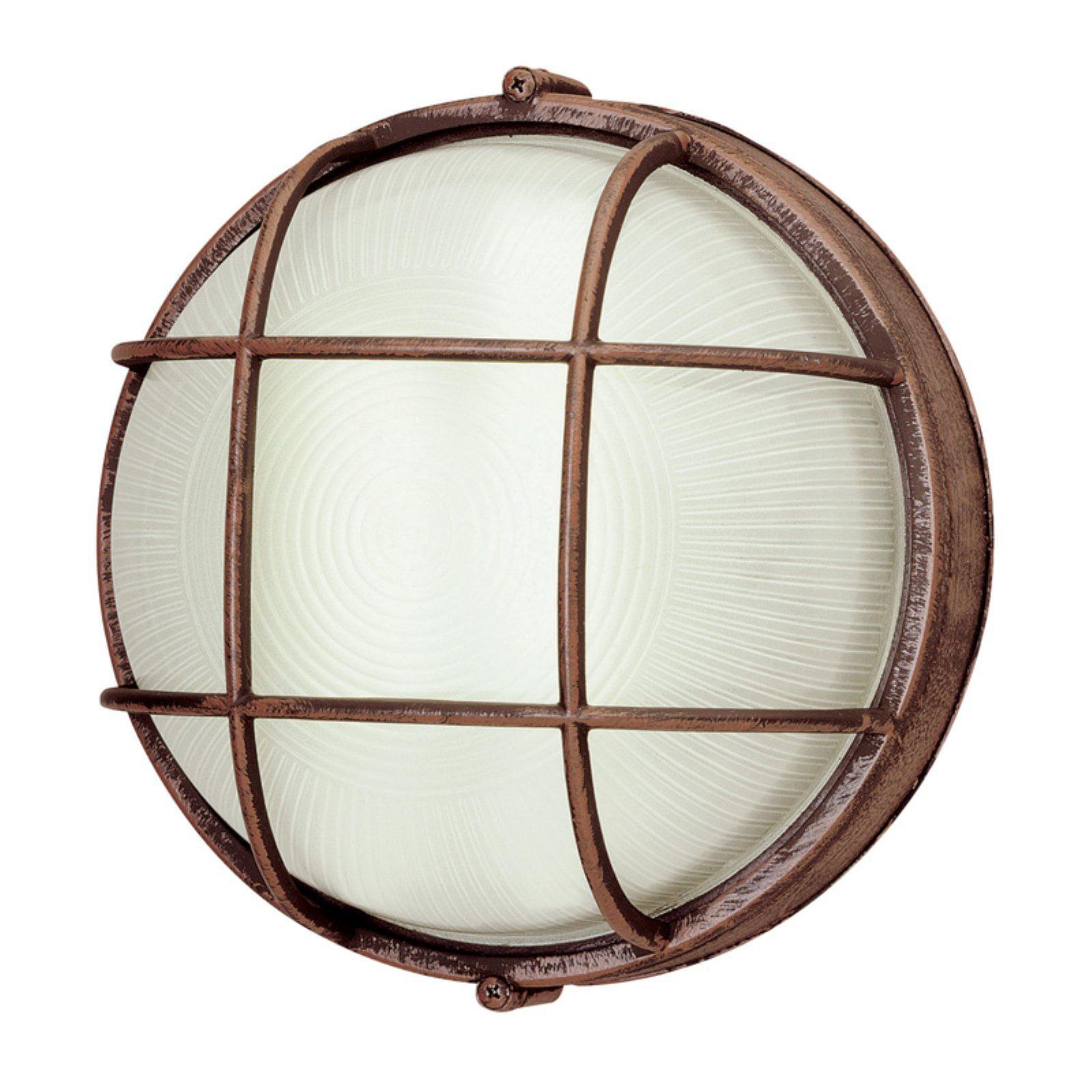 Trans Globe 41505 Round Bulkhead Wall Light - 8H in.