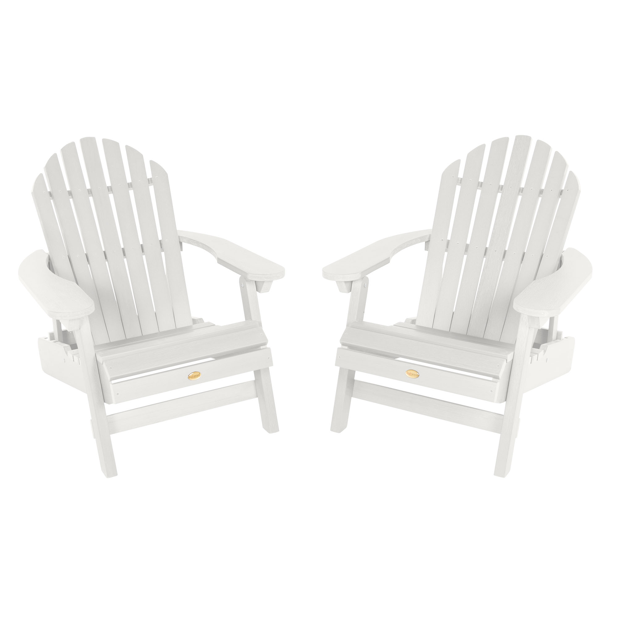 Set of Two Highwood Hamilton Folding and Reclining Adirondack Chairs
