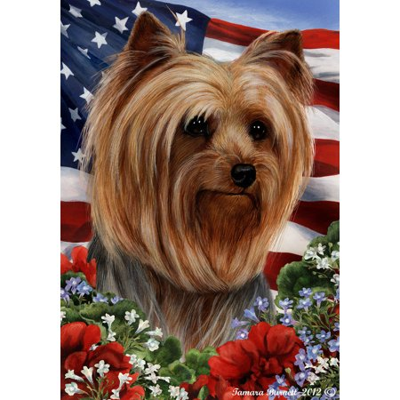 Yorkie Show Cut - Best of Breed  Patriotic I Large