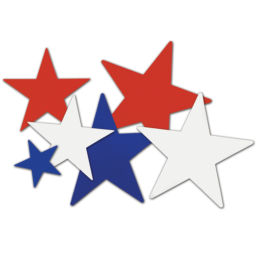 Red, White, and Blue Star Cutouts