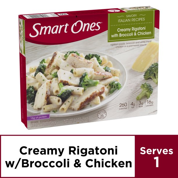 Smart Ones Creamy Rigatoni With Broccoli & Chicken, Frozen Meal, 9 oz Box