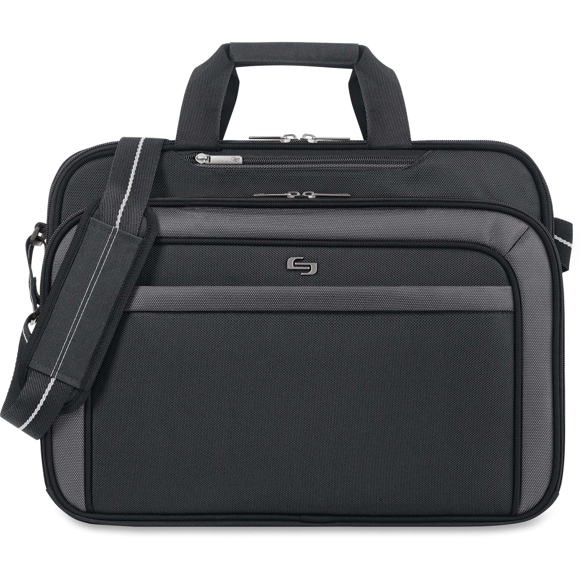 Solo, USLCLA3144, US Luggage CheckFast Clamshell Design Laptop Case, 1, Black by Solo