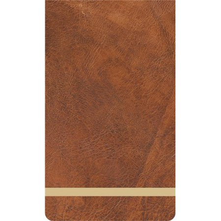 Kaisercraft KS1185 3.5 x 6 in. Kaiser Style Jotter Notepad, Wanderlust with PU Leather Cover - 180 Per Sheets - Blank - Leather Traditional Note Jotter
