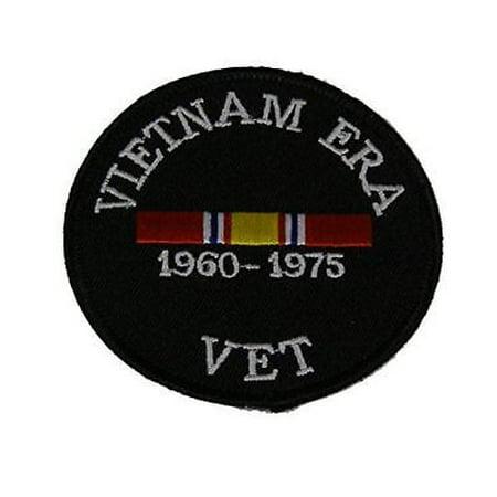 VIETNAM ERA VET WITH NATIONAL DEFENSE RIBBON PATCH COMBAT SERVICE SUPPORT