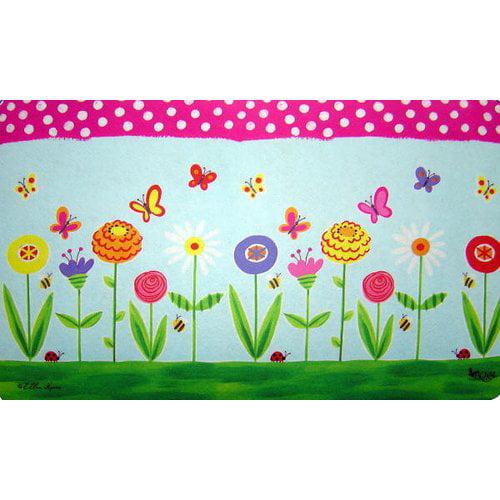 Custom Printed Rugs Garden Party Doormat