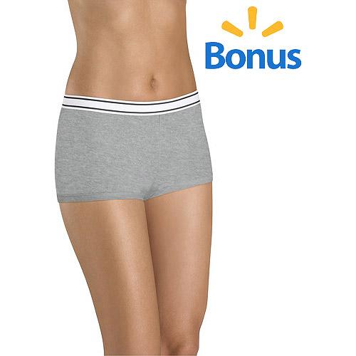Hanes Cotton Sporty Boyshort Panties 6+1 Bonus Pack