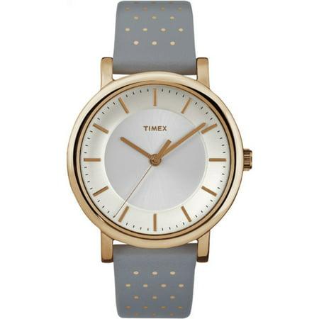 Timex Women's Originals Gray Leather Dress Watch TW2R27400