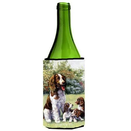 Carolines Treasures BDBA0288LITERK Springer Spaniels by Daphne Baxter Wine Bottle Can cooler Hugger - image 1 de 1