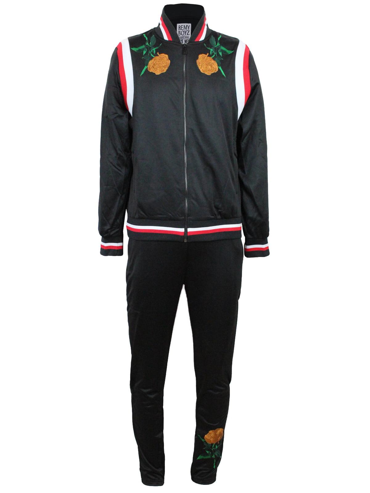 Yusky Mens Basic Style Assorted Colors Long-Sleeve Sweatsuit Set