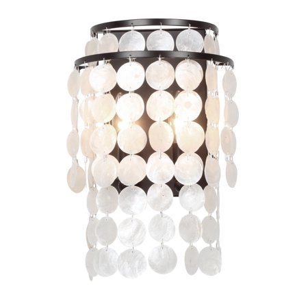 elight DESIGN ED02202BZ Capiz Shell Wall Sconce