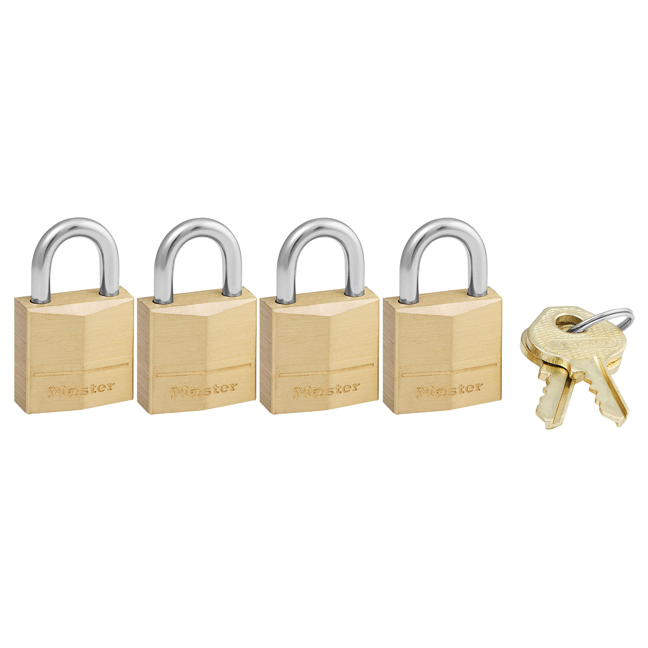 Master Lock 120Q Brass Padlock 4 Pack by Master Lock