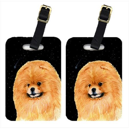 Carolines Treasures SS8481BT Starry Night Pomeranian Luggage Tags - Pair Of 2 - image 1 of 1