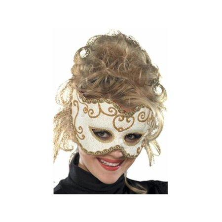 White Baroque Venetian Eyemask