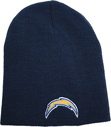 NFL San Diego Chargers Cuffless Knit Beanie Hat Blue by NFL