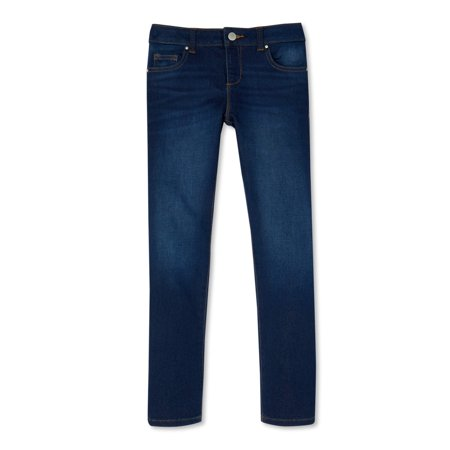 Wonder Nation Girls Kid Tough Skinny Jeans, Sizes 4-18 & Plus