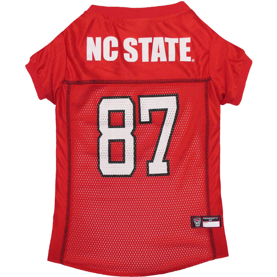 Pets First College NC State Wolfpack Collegiate Dog Jersey, Available in Various Sizes