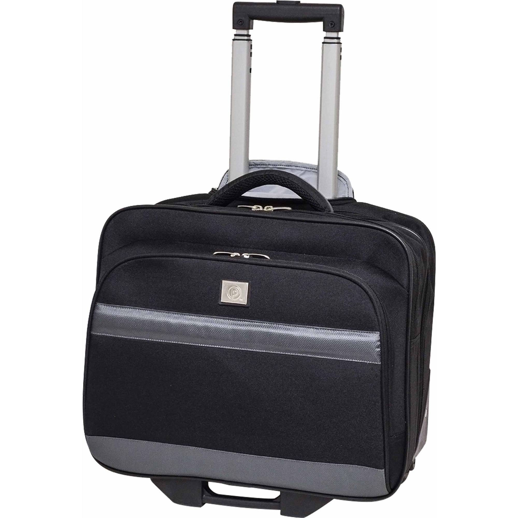 "Protege 16"" Rolling Briefcase with Laptop Section, Black"