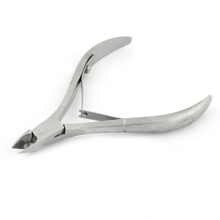 Stainless Steel Nippers (Dead Skin Scissors Advanced Stainless Steel Cuticle Clipper Nipper Silver Tone )
