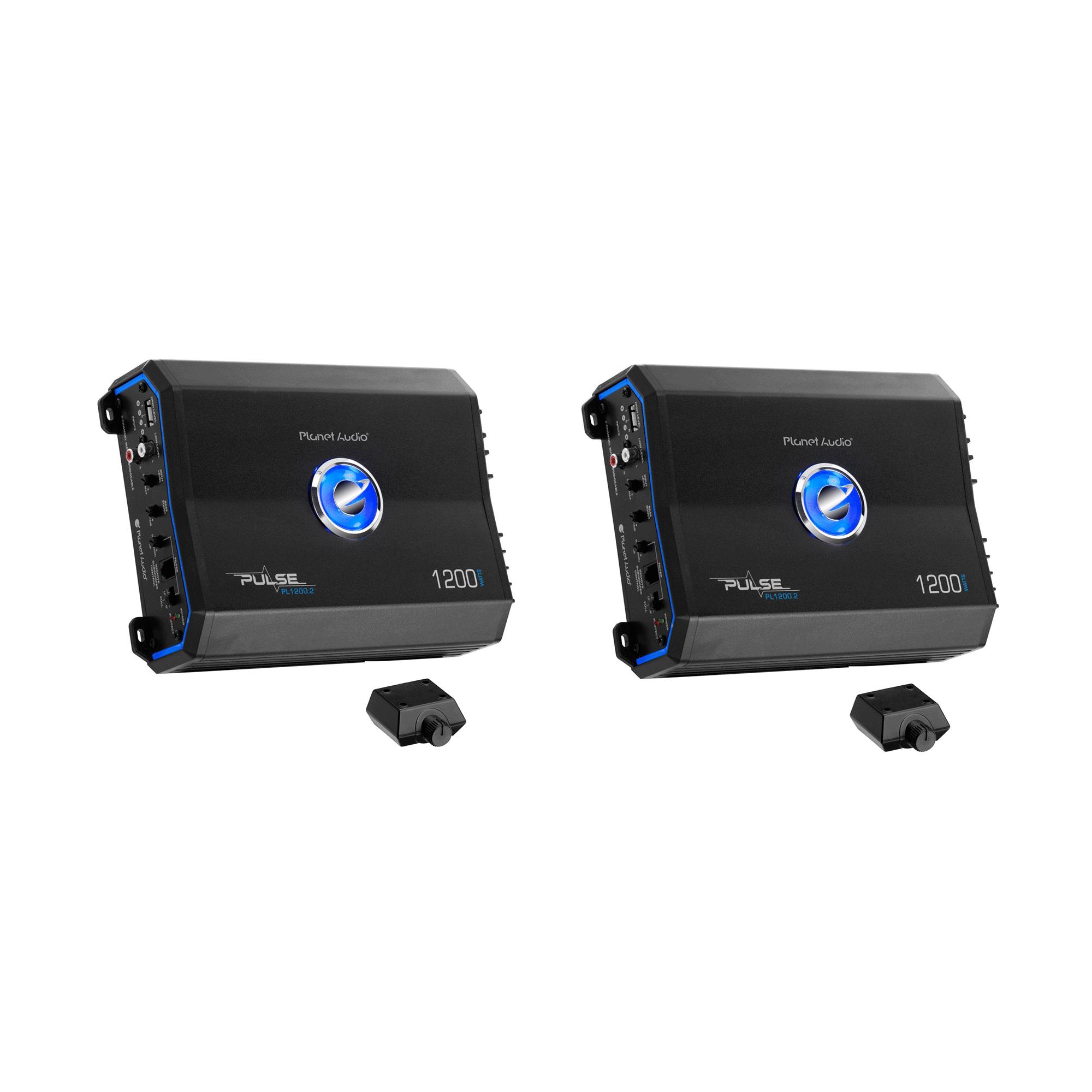 Planet Audio 1200W 2 Channel Full Range Class A/B MOSFET Amplifier (2 Pack)