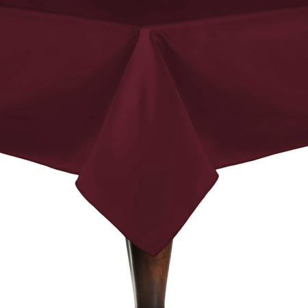 Ultimate Textile Bridal Satin 60 x 60-Inch Square Tablecloth - Over Red Square