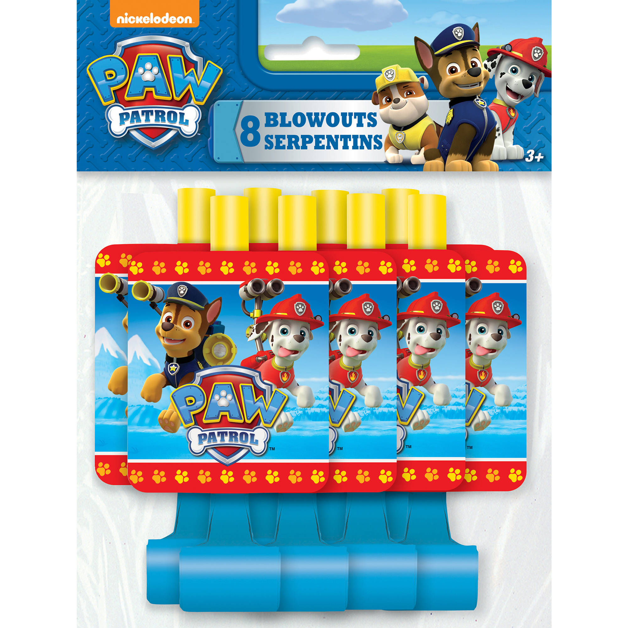 PAW Patrol Party Blowers, 8ct