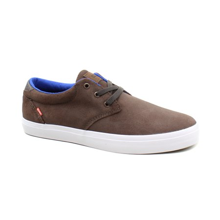 Globe Mens Winslow Brown Suede Skateboarding Casual Sneaker Shoes