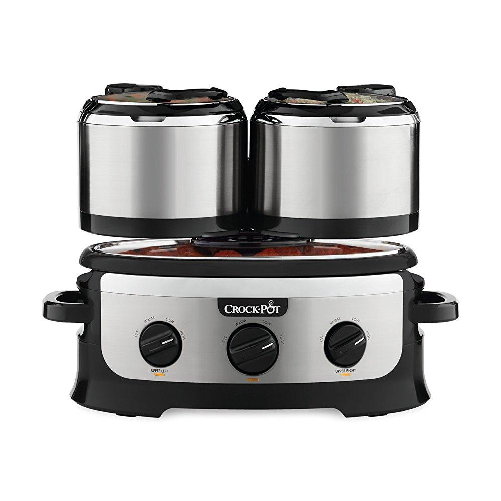 crock-pot sccptower-s swing and serve slow cooker, stainless steel