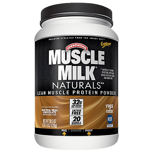 Muscle Milk Naturals Natural Real Chocolate Lean Muscle Protein Powder, 39.5 oz