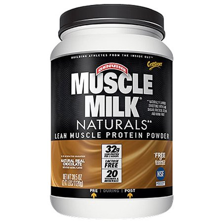 Muscle Milk Naturals Natural Real Chocolate Lean Muscle Protein Powder  39 5 Oz
