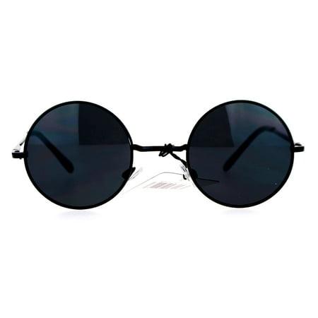 26b893ee023c6 SA106 - SA106 Retro 70s Hippie Round Circle Lens Sunglasses Black - Walmart .com