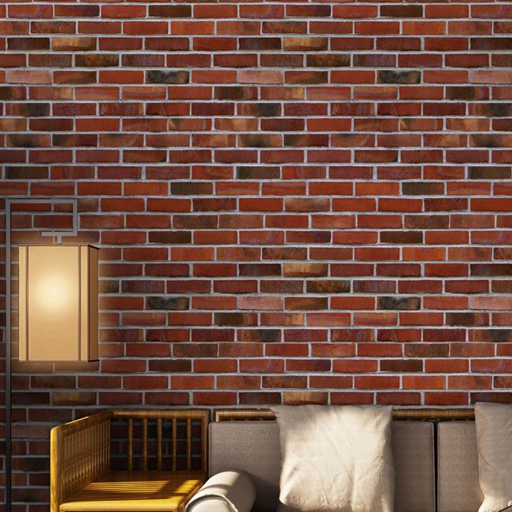 Simulation Brick Stone Rustic Effect Self-adhesive Wall Sticker Home Decor E
