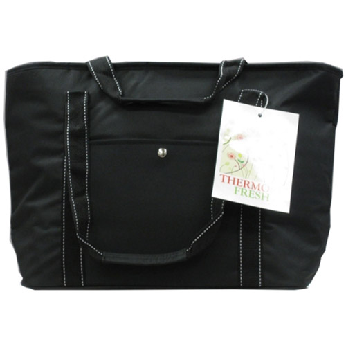 Easy Wheels Insulated Shopping Bag, Black, 1ct
