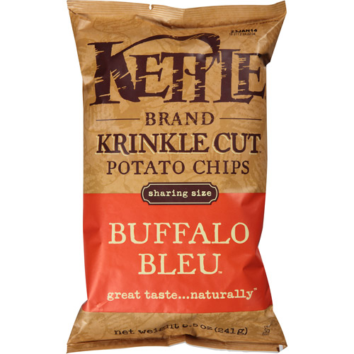 Kettle Brand Buffalo Bleu Krinkle Cut Potato Chips, 8.5 oz, (Pack of 12) by Generic