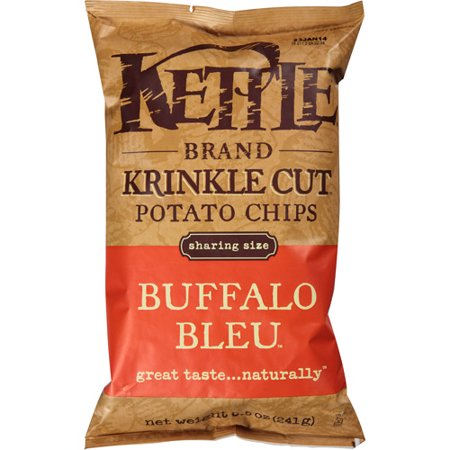 - Kettle Brand Buffalo Bleu Krinkle Cut Potato Chips, 8.5 oz, (Pack of 12)