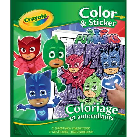 Crayola Color \'N Sticker Book 10X85-Pj Masks - Walmart.com