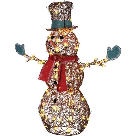 Starry Night Grapevine Snowman Christmas Lights ()