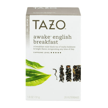 (3 Boxes) Tazo Awake English Breakfast Tea Bags Black tea 20ct - Tea Bag Costume