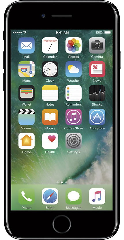 Apple iPhone 7 128GB Unlocked GSM Quad-Core Phone w  12MP Camera Jet Black Refurbished by Apple