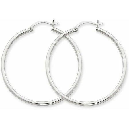 14kt White Gold Lightweight Hoop Earrings