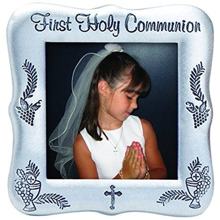 First Communion Photo Frame (Cathedral Art PFE125 First Holy Communion Photo Frame, 3-Inch)